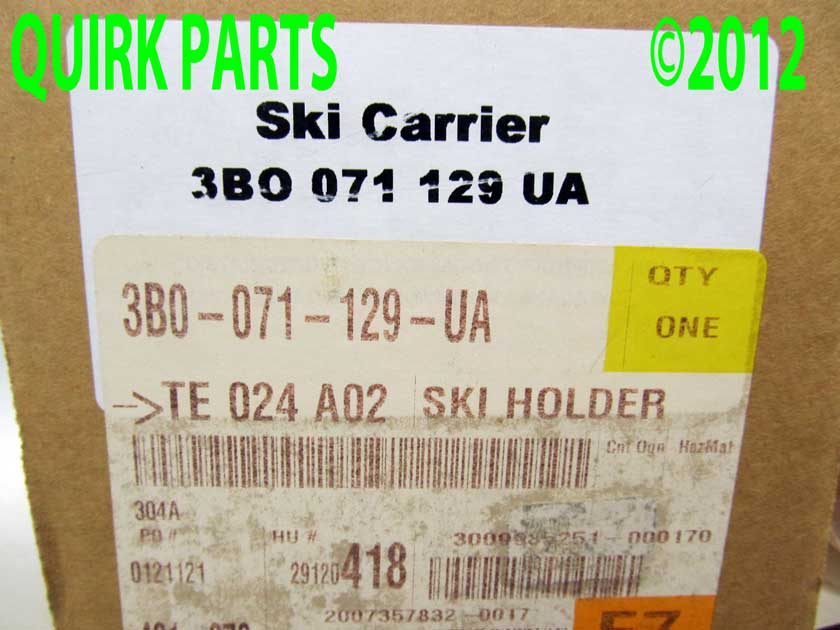 Vw Volkswagen Ski Amp Snowboard Roof Rack Carrier